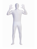 Adult White Invisible Man Costume