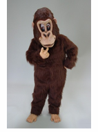 Brown Gorilla Mascot