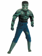 Kids Incredible Hulk Costume - Muscle Chest