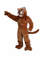 Power Cat Cougar Mascot Costume