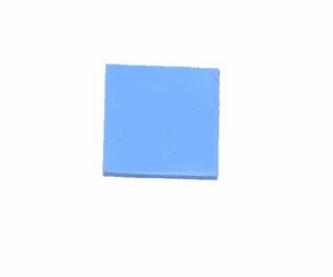 10x10x1mm Thermal Conductive Compound Blue Silicone Pad for GPU / CPU / Heatsink Installation