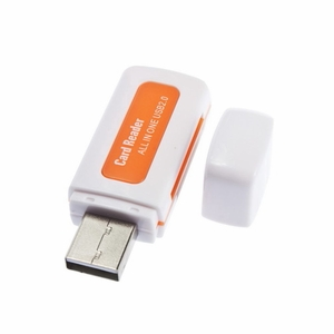 All In One Multi-card USB 2.0 Reader w/ 4 Ports Hub for SD/MMC/M2/MS
