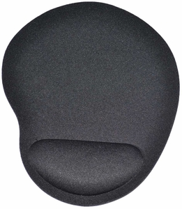 Black Comfort Wrist Rest Mouse Pad for Optical / Trackball Mouse