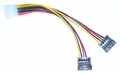 IDE 4-Pin Molex Male to 2x SATA 15-Pin Female Splitter Power Cable