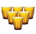 Duralex Picardie Amber Tumbler 10.5 oz. Set of 6