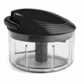 Kuhn Rikon Swiss Pull Chop Vegetable Chopper Black