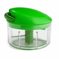 Kuhn Rikon Swiss Pull Chop Vegetable Chopper Green