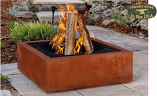 Agave Corten Wood Burning Fire Pit