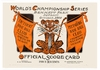 1909  WORLD SERIES Detroit Tigers vs Pittsburgh Pirates Poster