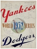 1952 World Series New York Yankees vs Brooklyn Dodgers Poster