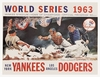 1963 World Series New York Yankees vs Los Angeles Dodgers Poster