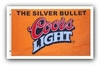 Coors Silver Bullet Beer Flag - Sign  - Ships Free