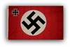German Swastika Cross Flag WWII