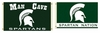 Michigan State Spartans Man Cave Flag & Nation Flag
