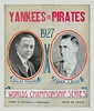 1927 World Series New Yankees vs Pittsburgh Pirates Poster