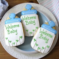 BABY BOTTLE Baby Shower Cookie Favors