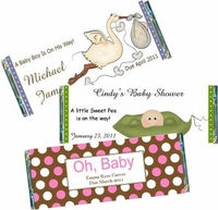 Baby Shower Candy Bar Wrappers and Candy Bar Favors