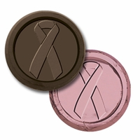 Breast Cancer Ribbon - Chocolate Coins for Breast Cancer Awareness (case of 250)