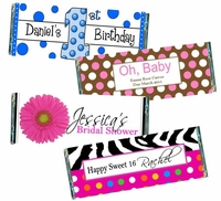 Candy Bar Favors and Wrappers
