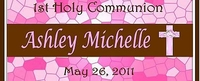 COM-21 Pink and Brown Cross Communion Wrapper