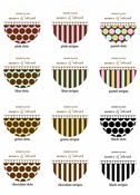 Dots and Stripes Personalized Lollipop Favors for any occasion