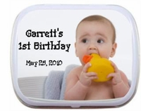 First Birthday Mint Tin Favors