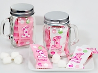 Mason Jar Candy Favors Girls First Bithday