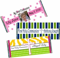 First Communion Candy Bar Wrappers and Candy Bar Favors