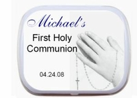 01T - First Communion Praying Hands Personalized Mint Tins