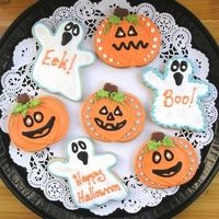 Ghost and Pumpkin Cookie Favors