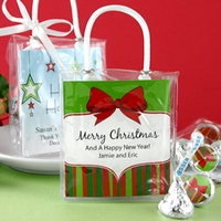 Holiday Hershey Kisses Gift Totes