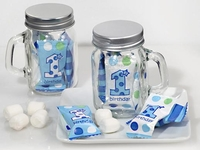 Mason Jar Candy Favors Boys First Birthday