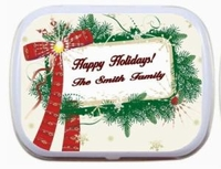 Message Frame and Wreath Personalized Mint Tin