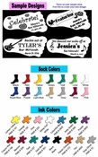 "Personalized ""Grippy"" Sock Favors (Case of 48 Socks - $4.68 per Pair) *NO SET UP FEE*"