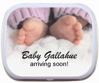Personalized Mint Tins- Baby Feet Pink or Blue Pants