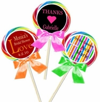 Personalized Swirl Lollipop Favors