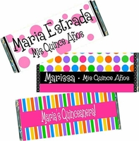 Quinceanera Candy Bar Wrappers and Favors