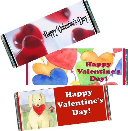 Valentine S Day Candy Bars Candy Bar Wrappers