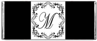 WED-05CW Trendy Monogram Wedding Candy Bars & Wrappers
