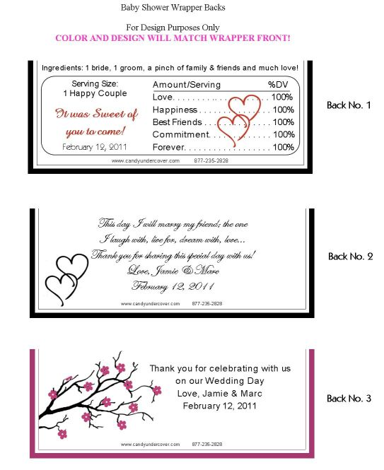 personalized hershey bar labels
