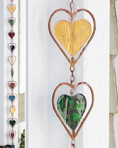 Heart Multicolor Rain Chain