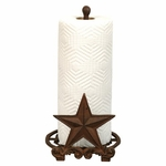 Cast Iron Rustic Star Paper Towel Holder