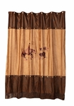 Rodeo Cutting Horse Shower Curtain