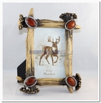 Rustic Antler Stone Photo Frame