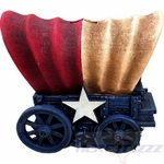 Texas Flag Stagecoach Coin Piggy Bank