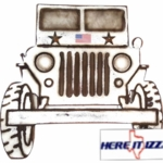 United States Military Jeep Wall Art