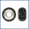 Black Swarovski Elements Crystal Bead