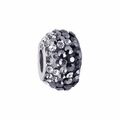 Charcoal Crystal Fade School Color Bead