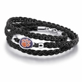 Clemson Tigers Leather Wrap Bracelet