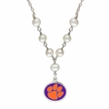 Clemson Tigers Pearl Necklace